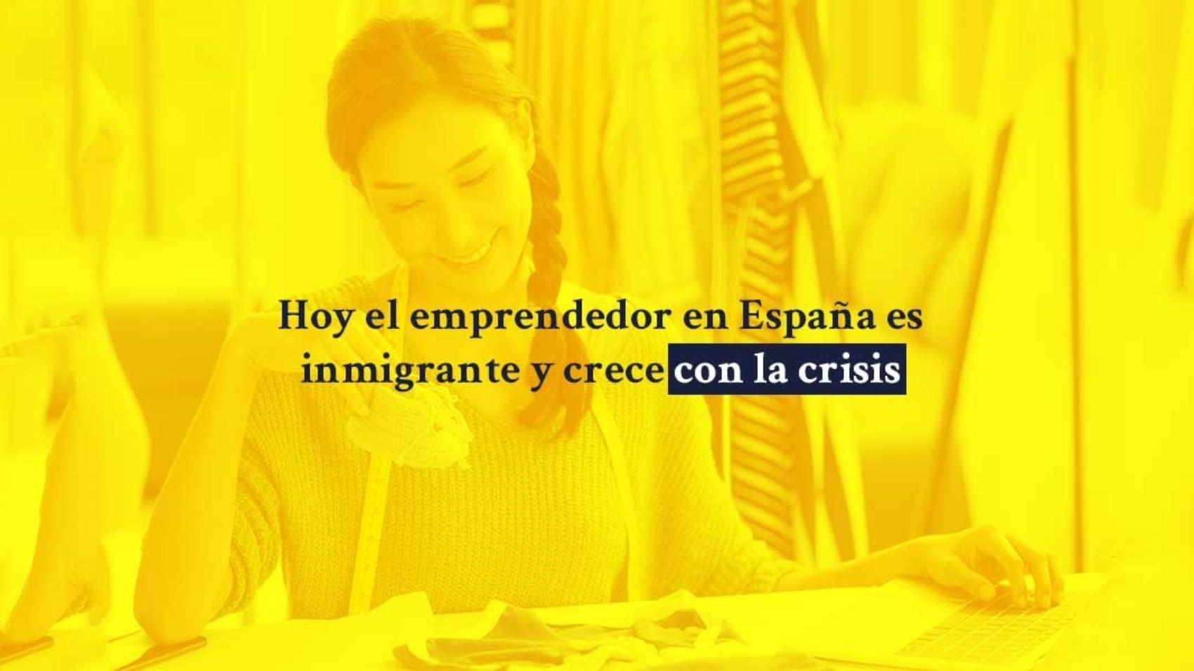 Hoy el emprendedor en España es inmigrante y crece con la crisis